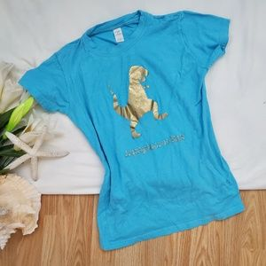 Tops - 🌴Blue and Gold Graphic T-Shirt*